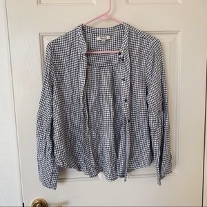 madewell grid button down